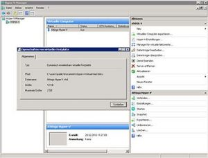 Microsoft Hyper-V eigenschappen afbeelding