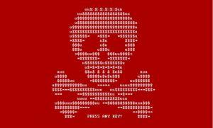 Petya ransomware virussen afbeelding